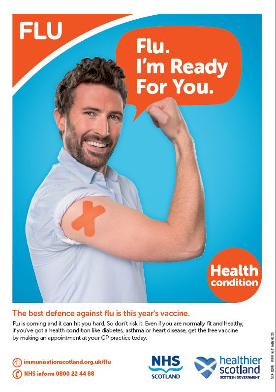 Image result for flu jab poster nhs scotland