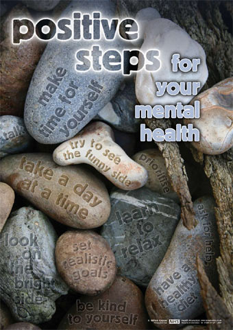 Positive Steps For Your Mental Health Poster P1MEN 003 P
